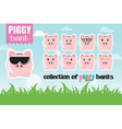 Collection of piggy banks with different face vector