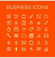 Business universal outline icons for web and vector