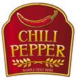 Chili pepper label vector
