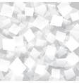 White abstract background with geometrical objects vector