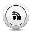 Button with rss icon vector