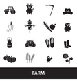 Farm black simple icons set eps10 vector