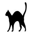 Silhouette afraid cat vector