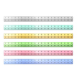 Plastic rulers vector
