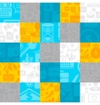 Abstract background of the business icons vector