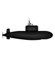 Military submarine vector