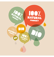 Retro natural product bio green labels set vector