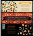 Set of flat design halloween card templates vector
