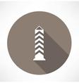 Boundary post pillar icon vector