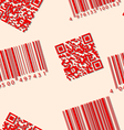 Barcode and qr-code seamless wallpaper vector