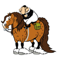 Fat rider with heavy horse vector