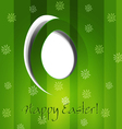 Green background with easter egg vector