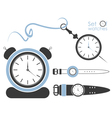 Set of different watches vector