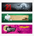Happy halloween banner collections design vector