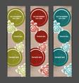 Vertical floral banner bookmark background vector