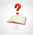 The book with a question mark vector