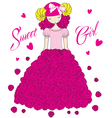 Sweet girl vector