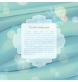 Winter background with frame for text vector