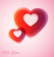 Red hearts - valentines card vector