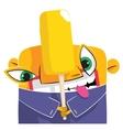 Fruit ice cream eater vector
