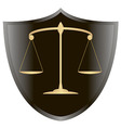 Scales of justiceshield 1 v vector