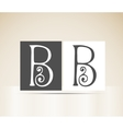 Retro alphabet letter b art deco vintage design vector