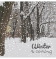 Winter is coming winter background vector