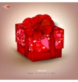 Beautiful red gift vector