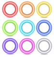 Colourful ring buttons vector
