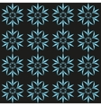 Cyan flower seamless pattern vector