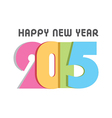 Happy new year 2015 design vector