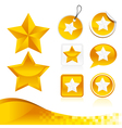 Golden star design kit vector