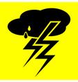 Symbol thunderstorm vector