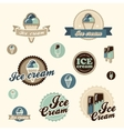 Set of vintage ice cream vector