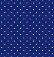 Blue background polka fabric with white little vector