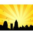 City park sun vector