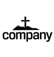 Cross silhouette logo vector