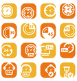 Color time icons vector