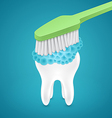 Brushing your teeth with toothpaste vector