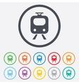 Subway sign icon train underground symbol vector