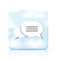 Bubble speech app icon on white background eps 10 vector