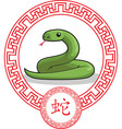 Chinese zodiac animal snake vector