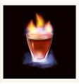 Burning drink - vector