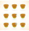 Cute dog colorful emotions vector