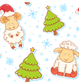 Festive new year winter seamless pattern vector