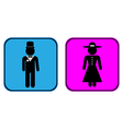Male and female buttons vector