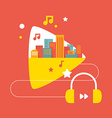 Sounds of the big city with headphones vector