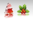 Christmas collection with 3d elements vector
