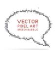 Round speech bubble in pixel art style vector