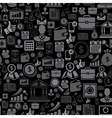 Seamless pattern of the business icons vector